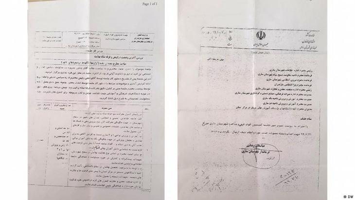 The document leaked to DW (photo: DW)