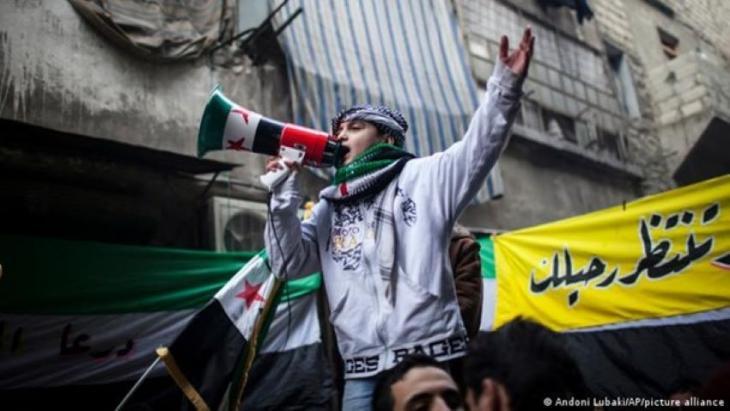 Anti-government protest, Syria, 2011 (photo: Andoni Lubaki/AP/picture-alliance)