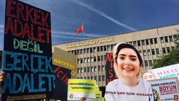 Sule Cet case: women's organisations protest in Ankara (photo: DW)