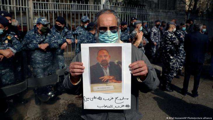 Hezbollah supporters had previously threatened the activist (photo: Bilal Hussein/AP Photo/picture-alliance)