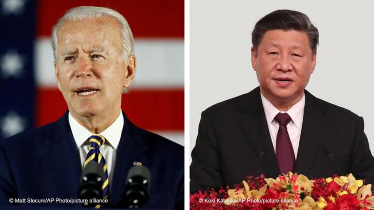 U.S. President Joe Biden (left) and Chinese President Xi Jinping (photos :Matt Slocum/AP Photo/picture-alliance and Koki Kataoka/AP Photo/picture-alliance)