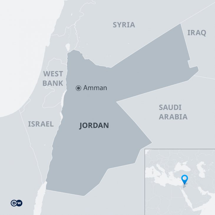 Map of Jordan (source: DW)