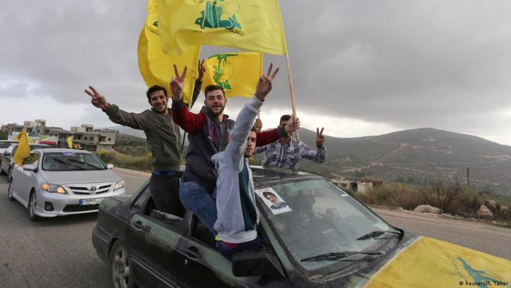 Jubilant Hezbollah supporters (photo: Reuters/A. Taher)