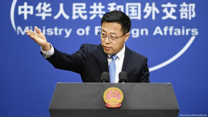 Chinese Foreign Ministry spokesperson Zhao Lijian (photo: picture-alliance-Kyodo)
