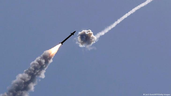Israel's Iron Dome aerial defence system intercepts a rocket launched from the Gaza Strip (photo: Jack Guez/AFP/Getty IMages)