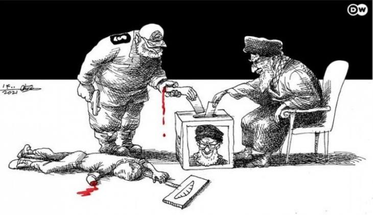 Caricature by Mana Neyestani on the upcoming presidential elections in Iran (photo: Mana Neyestani/DW)