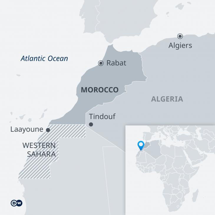 General map of Western Sahara (source: Deutsche Welle)
