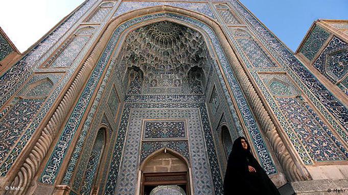 Entrance to Kerman Mosque in Kerman, Iran (photo: Mehr)