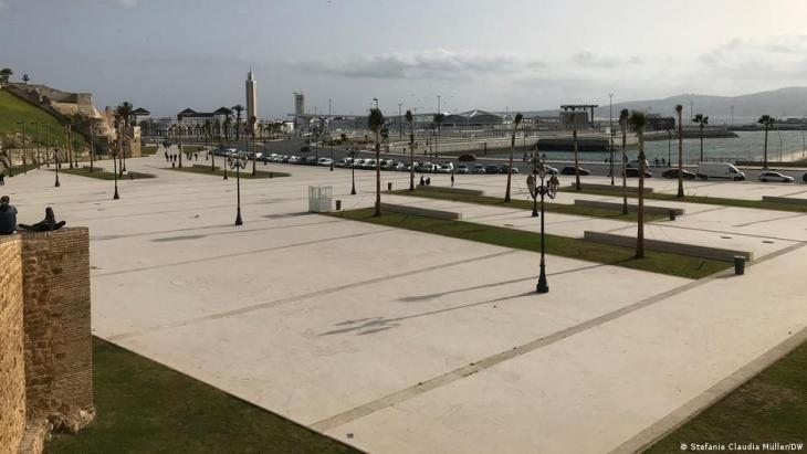 Everything is new at the ferry port of Tangiers, but everything is also at a standstill because of the coronavirus pandemic (photo: Stefanie Claudia Müller/DW)