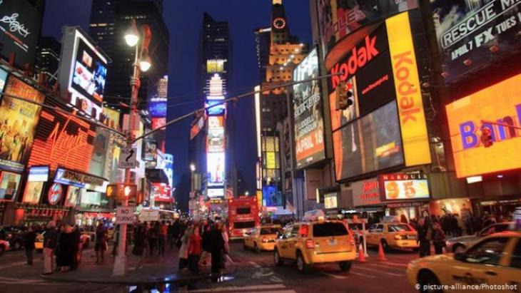 Times Square in downtown New York (photo: picture-alliance/photoshot)