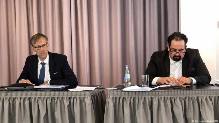 The Council of Europe's Special Representative on Antisemitic and Anti-Muslim Hatred, Daniel Holtgen (left) and Aiman Mazyek, Chairman of the Central Council of Muslims in Germany (photo: Christoph Strack/DW)
