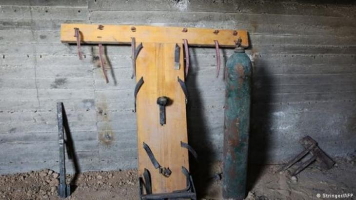 Instruments of torture used by Jaish al Islam in an underground prison in Douma (photo: Stringer/AFP)