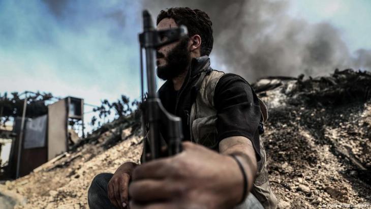 Jaish al Islam fighter in Douma, Syria (photo: AFP)