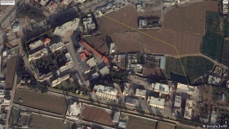 Google Earth screenshot of Jaish al Islam's security complex (source: Google Earth)