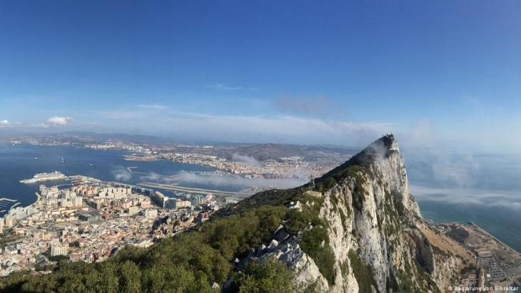 Aerial view of Gibralter and the rock of Gibralter from the air (photo: Government of Gibraltar)