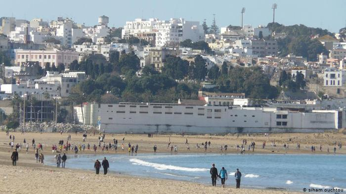 View of the city of Tangier from the beach (photo: Siham Ouchtou)