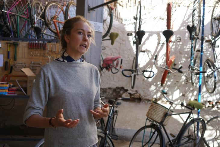 Cantal Bakker, founder of the Pikala bicycle project, Marrakech, Morocco (photo: Marian Brehmer)