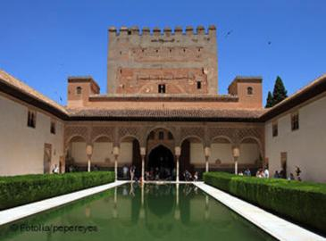 A courtyard at the Alhambra in Granada, Spain (photo: Fotolia/pepereyes)