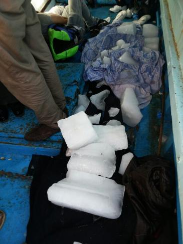 Ice is being used to stop the corpses from decomposingg (photo: Karim El-Gawhary)