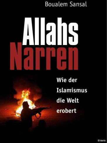 Cover of Boualem Sansal's 'Allahs Narren' (image source: Merlin Verlag)