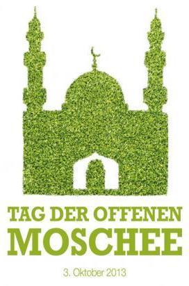 Slogan Day of the Open Mosque 2013 (photo: http://www.tagderoffenenmoschee.de/)