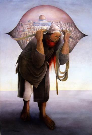 Suleiman Mansour's Camel of Burdens (photo: thetanjara.blogspot.com)