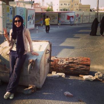 Ala'a Shehabi (photo: Twitter account Ala'a Shehabi)