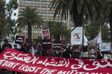 Demonstration against military courts in Tunisia (photo: Sarah Mersch)