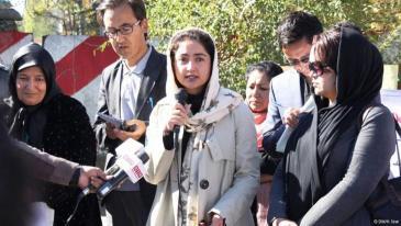 Afghan MP Farkhunda Zahra Naderi (photo: DW/H. Sirat)