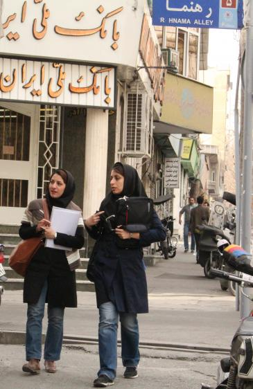 Iranian female students (photo: Massoud Schirazi)