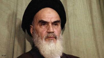 Ayatollah Ruhollah Khomeini during a press conference in Tehran on 1 February 1979 (photo: AP)