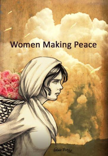 "Illustration by Diala Brisly: ""Women making peace"" (source: Diala Brisly)"