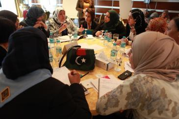 Delegates at a seminar about women in political decision-making processes organised by Karama and the LWPP (photo: Dominique Margot)