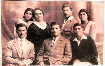 Tzila with Chanan (left), Eliezer (centre) and four of her children (photo: private)