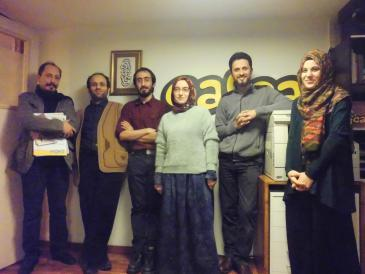 "The editorial team of ""Cafcaf"" in Istanbul (photo: Senada Sokollu)"