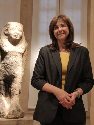 Anne-Marie Afeiche, director of the National Museum in Beirut (photo: Juliane Metzker)