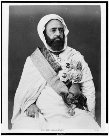 Emir Abdul-Qadir (photo: Library of Congress, Public Domain)