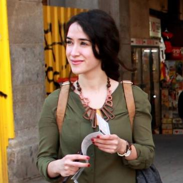 Burcu studies communication research in Erfurt (photo: private)