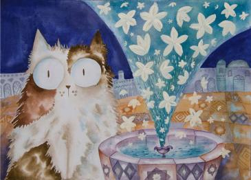 """An illustration from Kaadan's first picture-book in English, """"The Jasmine Sneeze"""" (published by Lantana Publishing)"""