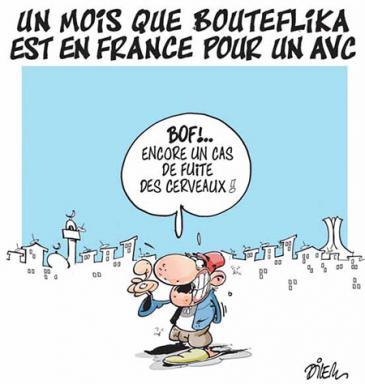 """Karikatur von Dilem in der algerischen Zeitung """"Liberté"""""""