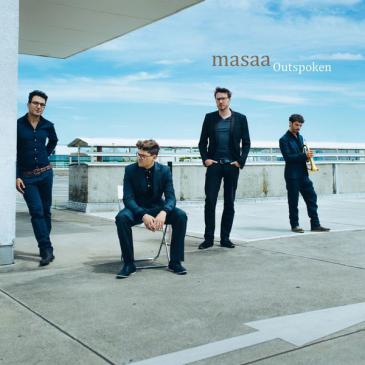 "Cover of Masaa's latest album ""Outspoken"" (released by Traumton)"