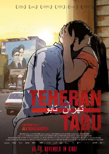 "Poster for the animated film ""Tehran Taboo"" by German-Iranian director Ali Soozandeh (copyright: Ali Soozandeh)"