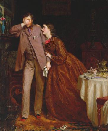 """Woman's Mission: Companion to Manhood"" by George Elgar Hicks"