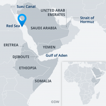 Map of the Horn of Africa (source: Deutsche Welle)