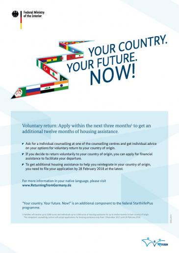 "German ""Your Country. Your Future. Now!"" campaign (source: German Federal Ministry of the Interior)"