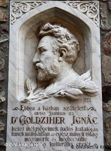 Memorial to the Hungarian Orientalist Ignac Goldziher, founder of modern Islamic Studies (photo: Wikipedia)
