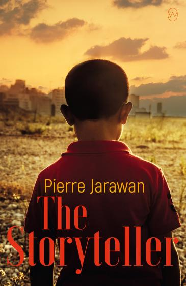 "Cover of Pierre Jarawanʹs ""The Storyteller"" (published by World Editions)"