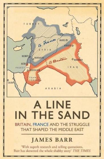 """Cover of James Barr's """"A line in the sand"""" (source: Simon & Schuster)"""