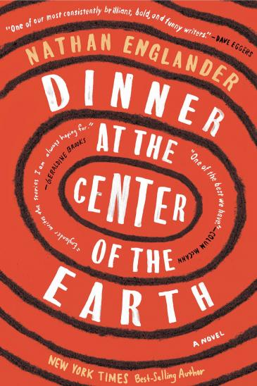 "Cover of Nathan Englanderʹs "" Dinner at the Centre of the Earth"" (published by Knopf)"