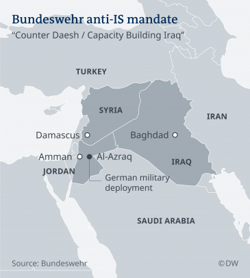 Bundeswehr anti-IS mandate (source: DW)